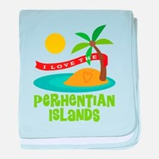 I Love The Perhentian Islands baby blanket