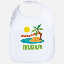 I Love Maui Bib