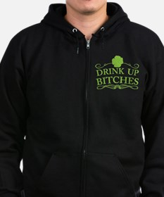 Drink Up, St Patrick's Day Zip Hoody