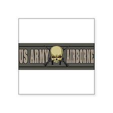 skull airborne Sticker