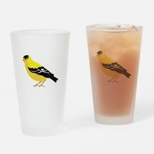 American Goldfinch Drinking Glass