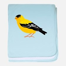 American Goldfinch baby blanket