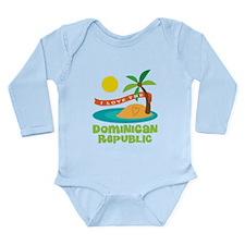I Love The Dominican R Long Sleeve Infant Bodysuit