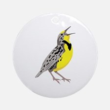 Western Meadowlark Ornament (Round)