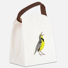 Western Meadowlark Canvas Lunch Bag