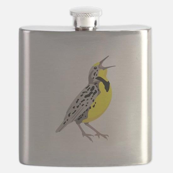 Western Meadowlark Flask