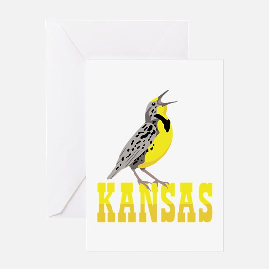 KANSAS Meadowlark Greeting Cards