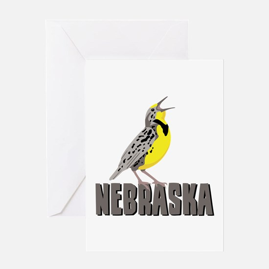 NEBRASKA Meadowlark Greeting Cards