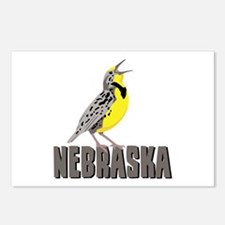 NEBRASKA Meadowlark Postcards (Package of 8)