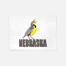 NEBRASKA Meadowlark 5'x7'Area Rug