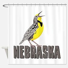 NEBRASKA Meadowlark Shower Curtain