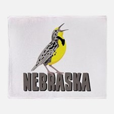 NEBRASKA Meadowlark Throw Blanket