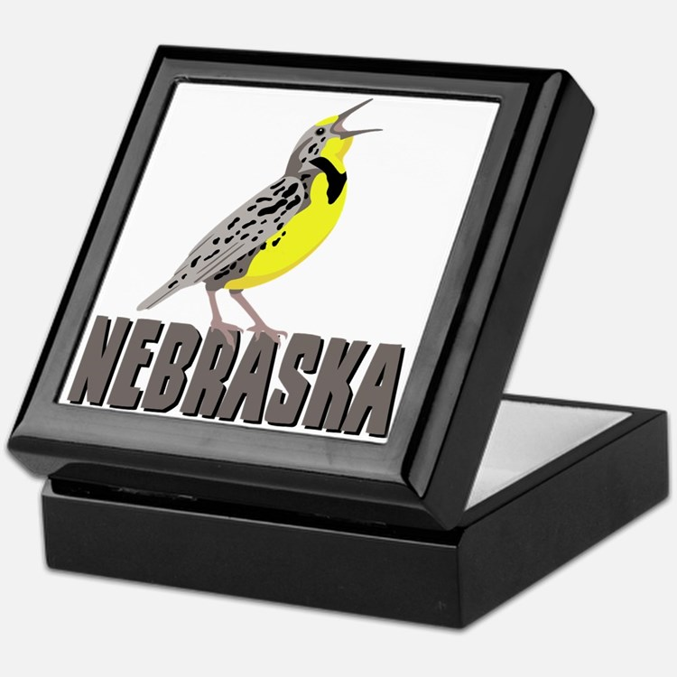 NEBRASKA Meadowlark Keepsake Box