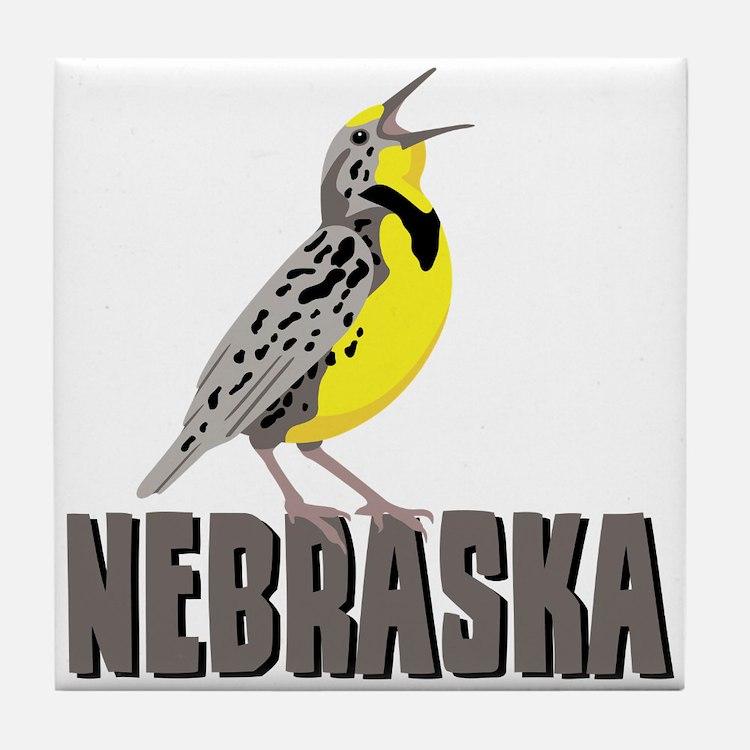 NEBRASKA Meadowlark Tile Coaster