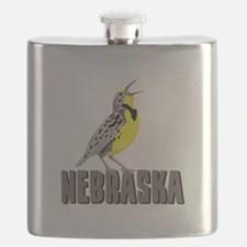 NEBRASKA Meadowlark Flask