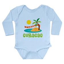 I Love Curacao Long Sleeve Infant Bodysuit