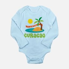 I Love Curacao Long Sleeve Infant Bodysuit