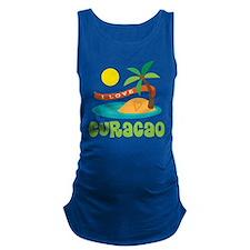 I Love Curacao Maternity Tank Top