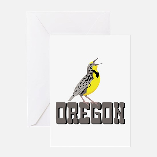 OREGON Meadowlark Greeting Cards