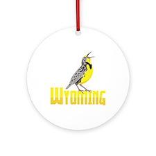 WYominG Meadowlark Ornament (Round)