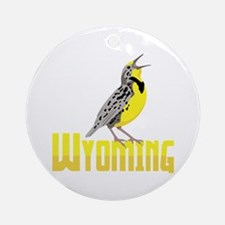 WYominG Meadowlark Ornament (Round)