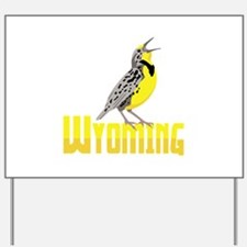 WYominG Meadowlark Yard Sign