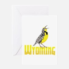 WYominG Meadowlark Greeting Cards