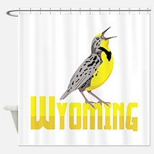 WYominG Meadowlark Shower Curtain