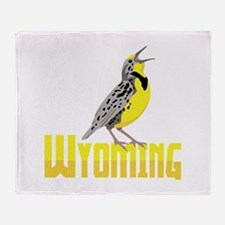 WYominG Meadowlark Throw Blanket