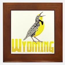 WYominG Meadowlark Framed Tile