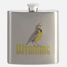WYominG Meadowlark Flask