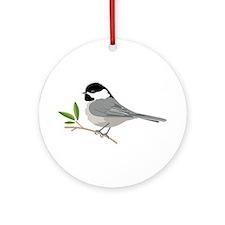 Black-Capped Chickadee Ornament (Round)