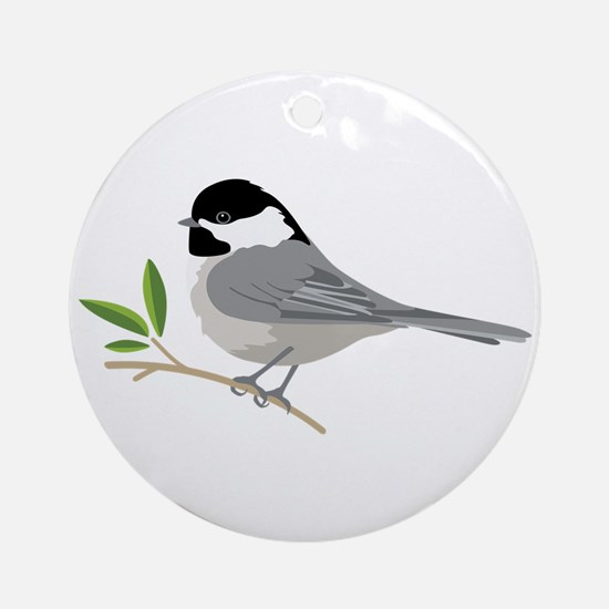 Black-Capped Chickadee Ornament (Round)