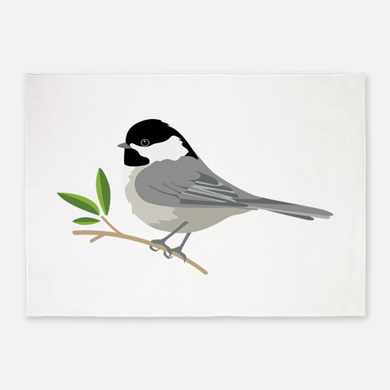 Black-Capped Chickadee 5'x7'Area Rug