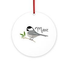 maiNe Chickadee Ornament (Round)