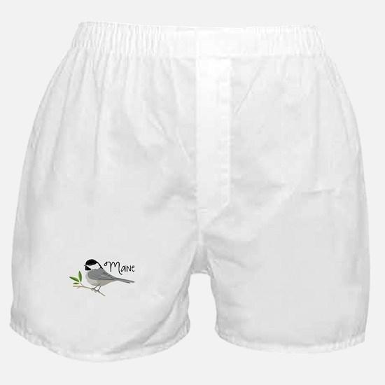maiNe Chickadee Boxer Shorts