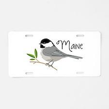 maiNe Chickadee Aluminum License Plate