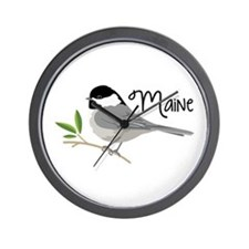 maiNe Chickadee Wall Clock