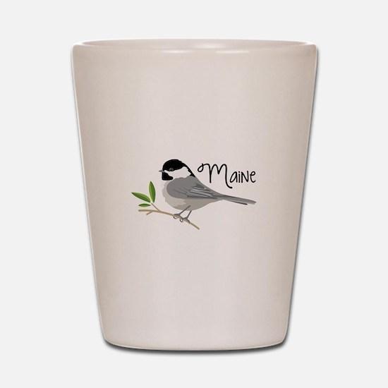 maiNe Chickadee Shot Glass