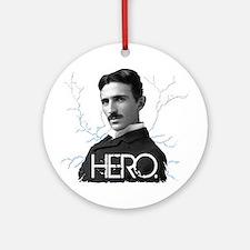 HERO. - Nikola Tesla Ornament (Round)