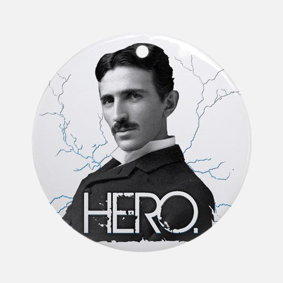 HERO. - Nikola Tesla Ornament (Round)