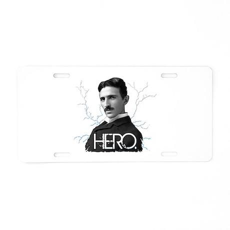 HERO. - Nikola Tesla Aluminum License Plate