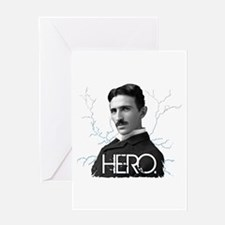 HERO. - Nikola Tesla Greeting Cards