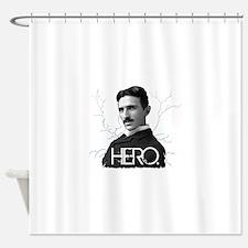 HERO. - Nikola Tesla Shower Curtain