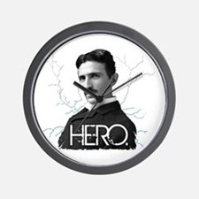 HERO. - Nikola Tesla Wall Clock