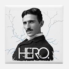 HERO. - Nikola Tesla Tile Coaster