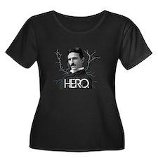 HERO. - Nikola Tesla Plus Size T-Shirt