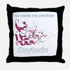 Oxytocin-neurophysin II complex Throw Pillow