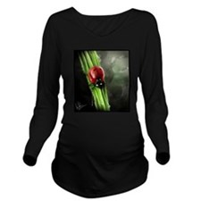 Lady Bug Long Sleeve Maternity T-Shirt