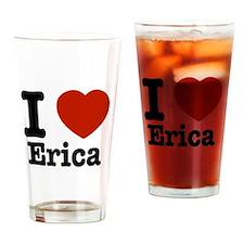 I love Erica Drinking Glass